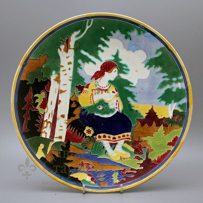 Декоративная тарелка «Под березой»