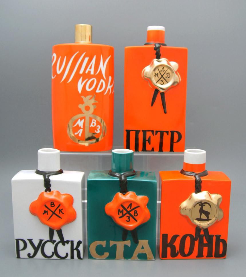Коллекция штофов Московского ликеро-водочного завода