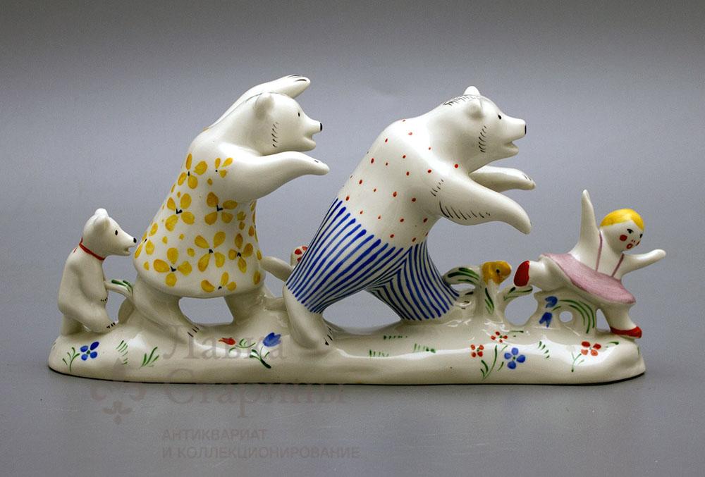 Статуэтка «Маша и медведи»