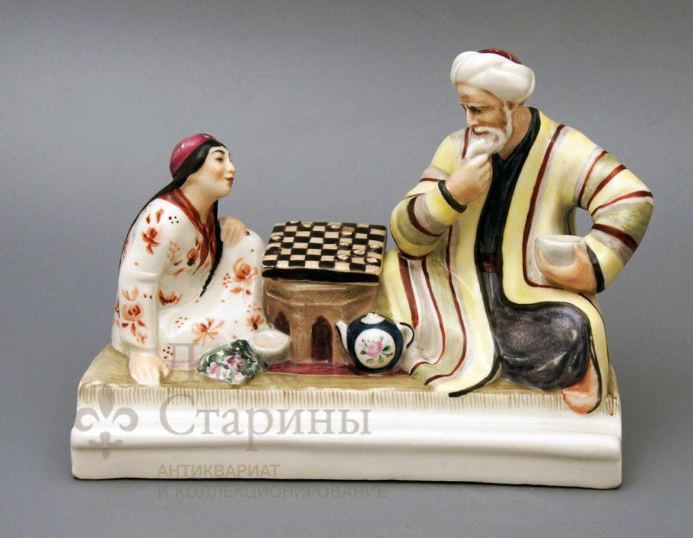 Чернильница «Игра в шашки»