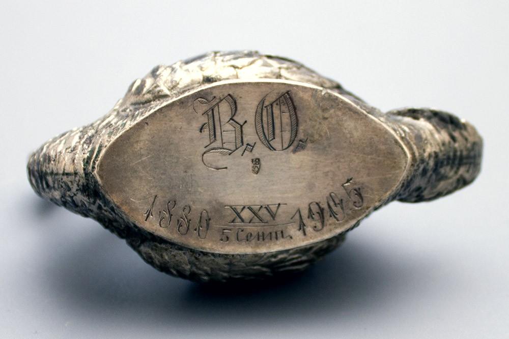 Солонка из серебра 84 пробы государственная российская монета 1809