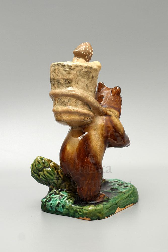 купить онлайн статуэтку медведь керамика