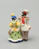 Советская статуэтка миниатюра «Маскарад», скульптор Андрианова Т. В., Вербилки