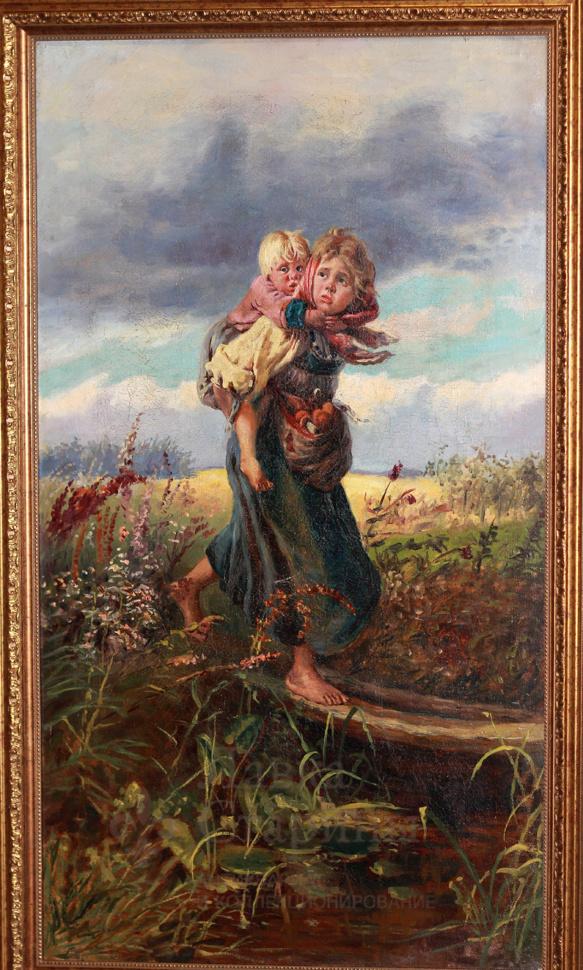 Вышивка картин гроза
